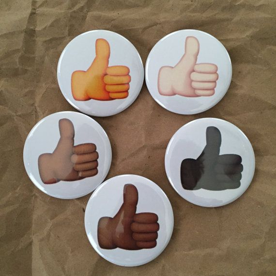 Thumbs up emoji buttons by HypotheticalButtonCo on Etsy