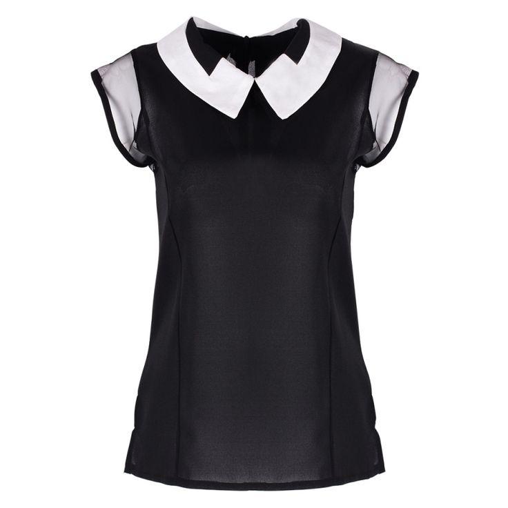 Pinterest  Sleeveless Chiffon Blouse //Price: $9.99 & FREE Shipping //     #clothing #fashion #lady #dress