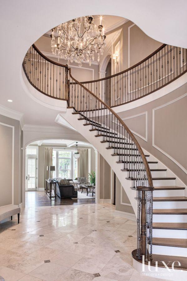 Foyer With Spiral Staircase : De bedste idéer inden for grand staircase på pinterest