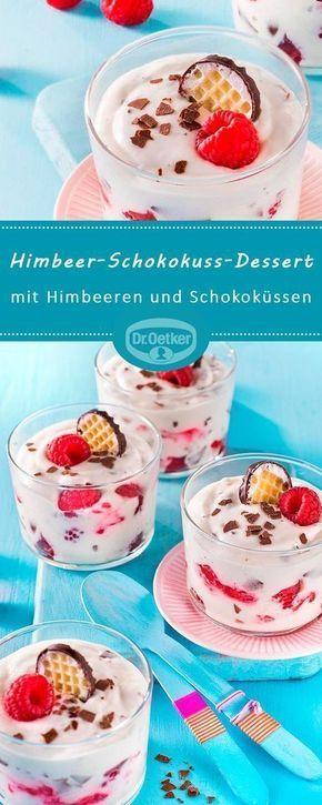 Himbeer-Schokokuss-Dessert
