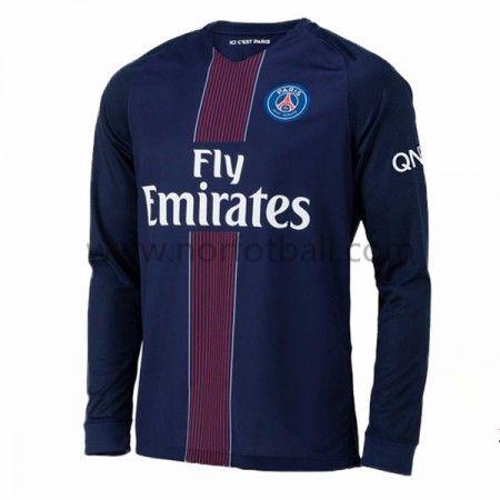 Billige Fotballdrakter Paris Saint Germain Psg 2016-17 Hjemme Draktsett Langermet