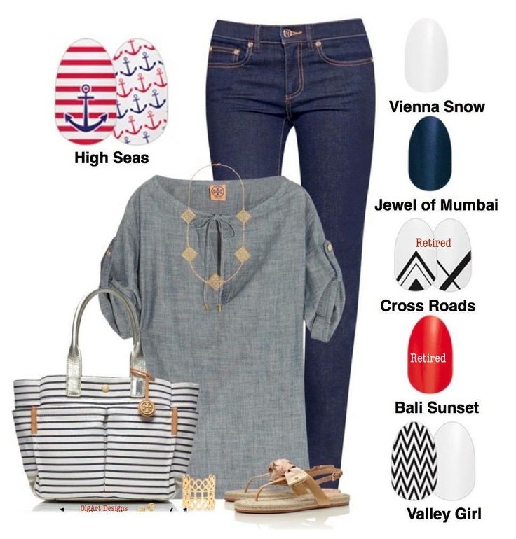 Sorority girls love these nautical nail polish strips by Color Street.