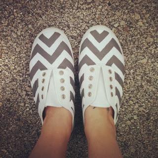 DIY Chevron shoes