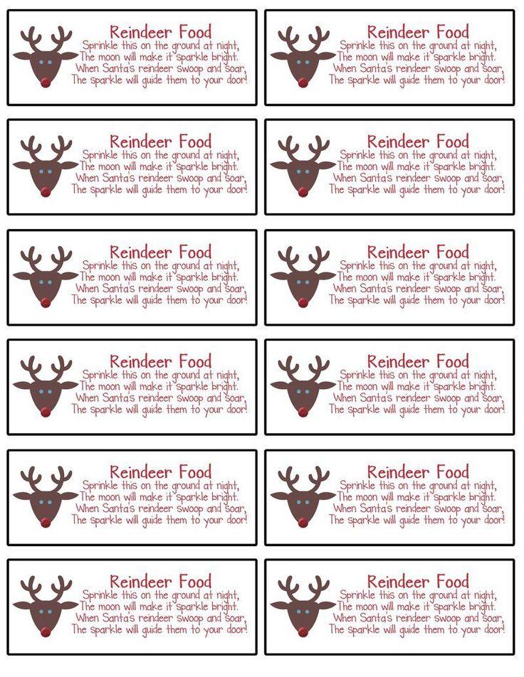 How To Make Reindeer Food Labels