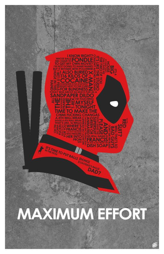 Dead Pool Quote Poster by OutNerdMe on Etsy