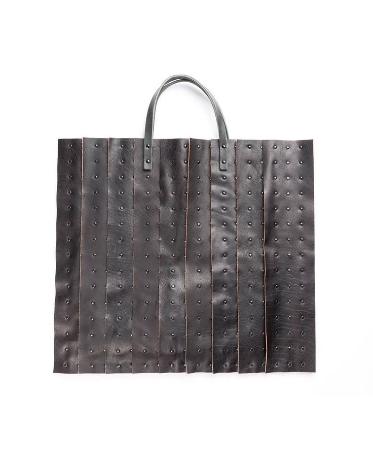 THE LOSER PROJECT Black shopper with studs 45x50 cm 100% Leather