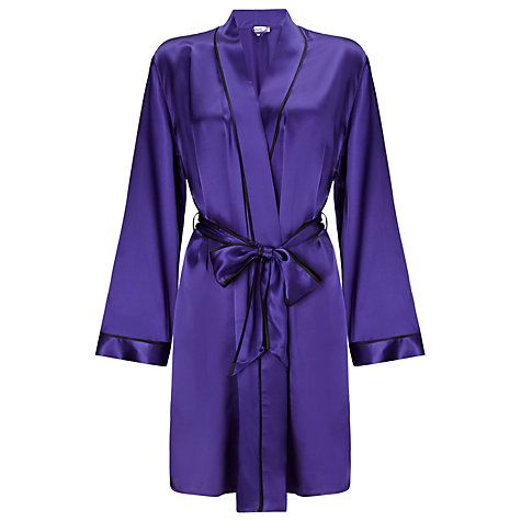 Buy Somerset by Alice Temperley Silk Kimono Robe, Royal Blue Online at johnlewis.com