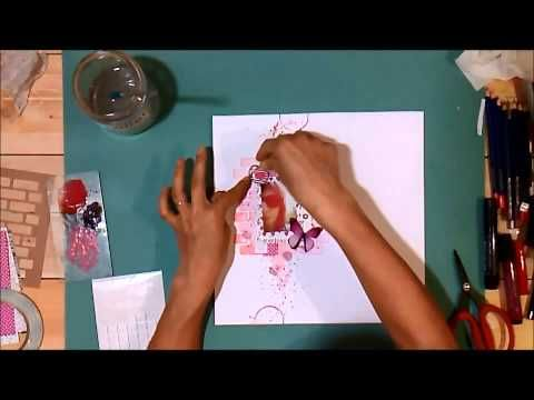 Layout with Art GRIP Aquarelle Watercolor Pencils - YouTube