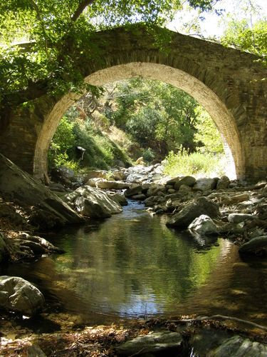Platanistos bridge, Evia