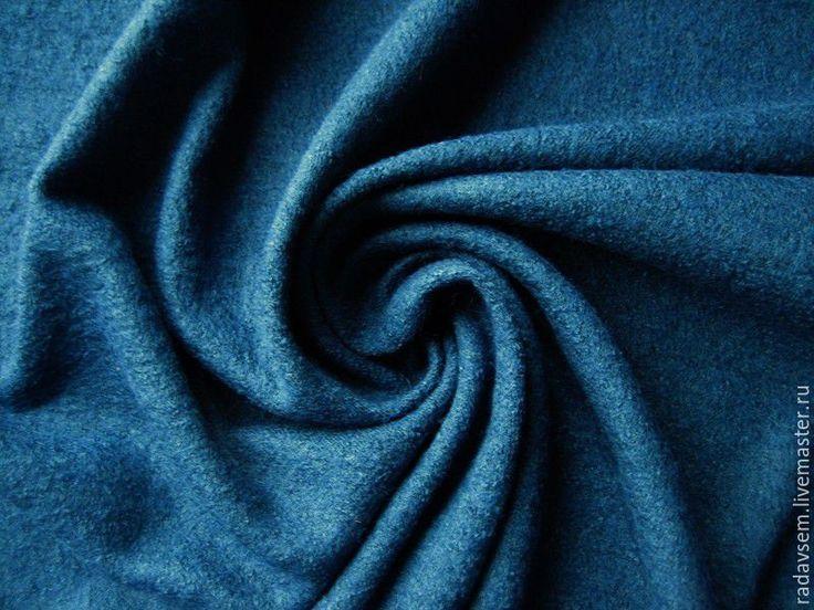 Купить Ткань шерсть Лоден Сине-зеленый - теплая юбка, вареная шерсть, для шитья одежды