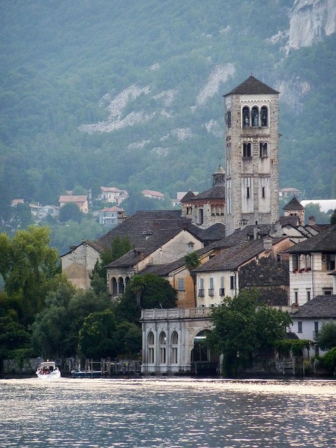 San Giulio, Lago Orta, near Lago Maggiore, Italy.