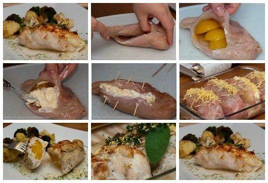 Лучшие кулинарные рецепты: Фаршированные куриные грудки