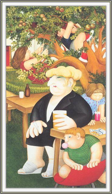 Beer Garden. Artwork by Beryl Cook