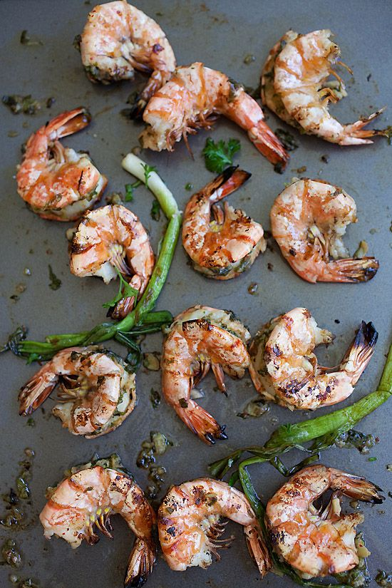 Grilled Shrimp with Kimchi-Miso Butter Recipe | Easy Asian Recipes ...