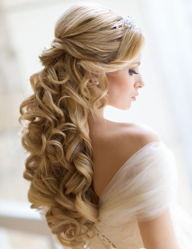 22 New Wedding Hairstyles to Try. Like this one, too.