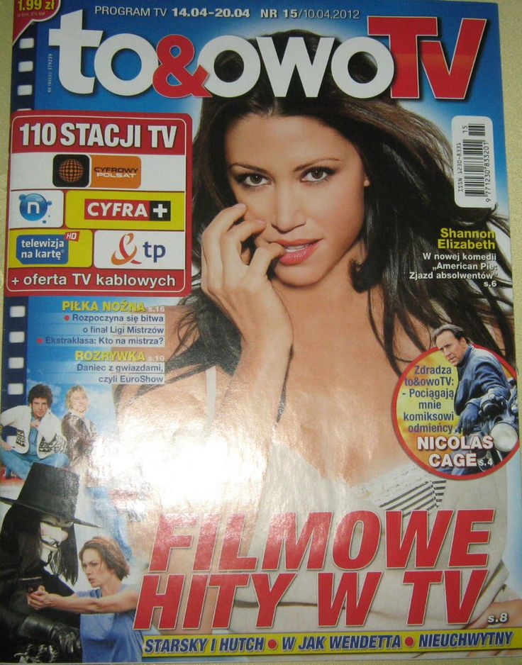 SHANNON ELIZABETH THE  POLISH RARE TV MAGAZINE TO & OWO