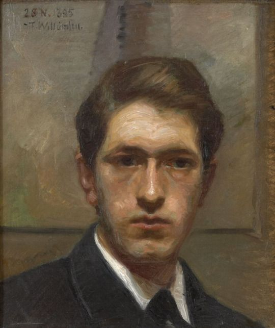 Jens-Ferdinand Willumsen, Selvportræt, c.1885
