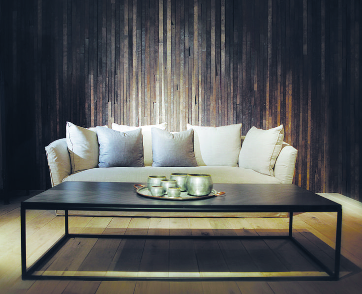 Cozy atmosphere thanks to our #Verellen Klara Sofa and Fishbone Coffee Table. www.augusthaven.com