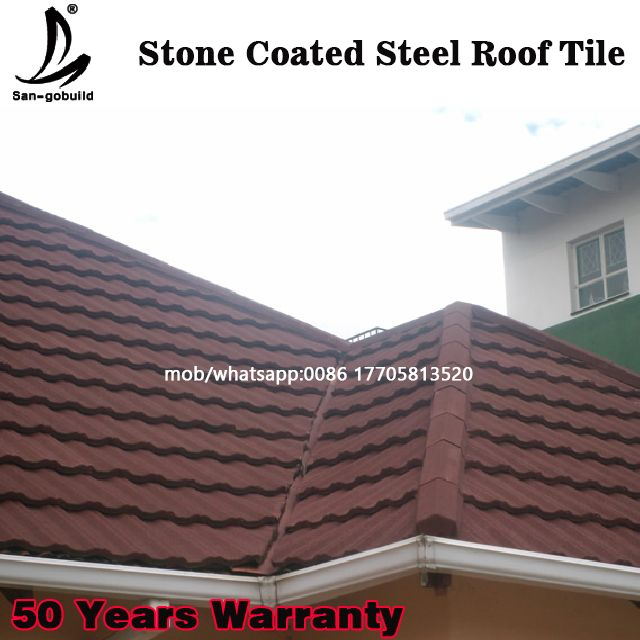 Fire Proof 50 Years Warranty Stone Coated Roofing Philippines