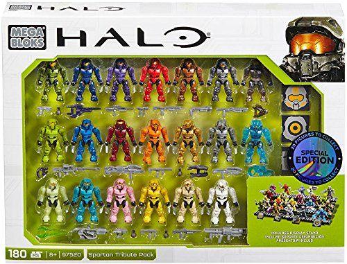 AmazonSmile: Mega Bloks, Halo, Exclusive Spartan Tribute Set (97520): Toys & Games
