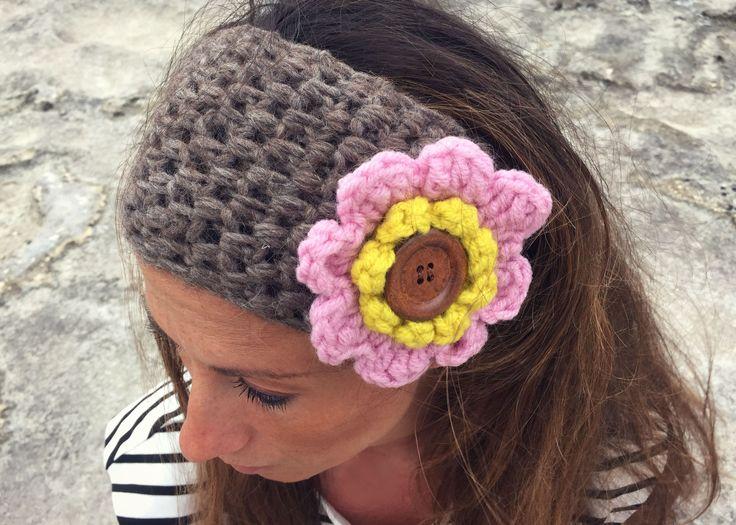 Crochet headband. Uncinetto Fascia Capelli