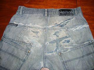 Opgelapte spijkerbroek