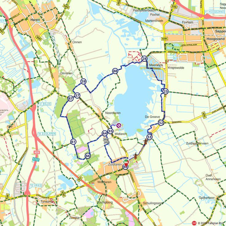 Fietsroute: Rondje Zuidlaardermeer (http://www.route.nl/fietsroutes/137976/Rondje-Zuidlaardermeer/)