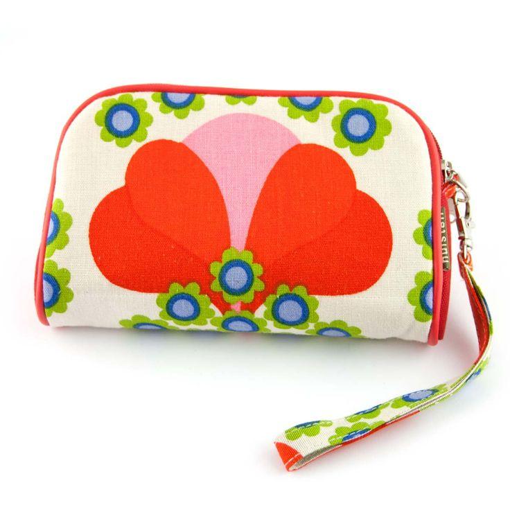 Handig mini tasje Roza van Huisteil creaties, gemaakt met retro stoffen. ✓ Voor 21.00 uur besteld, morgen in huis!