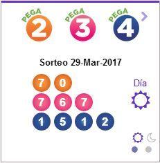 #Pega numeros ganadores 29-03-2017