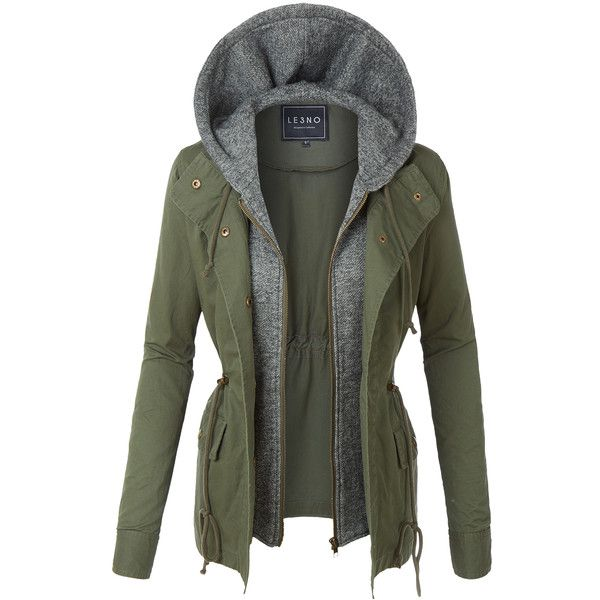 LE3NO Womens Lightweight Military Anorak Safari Jacket ($30) ❤ liked on Polyvore featuring outerwear, jackets, lightweight safari jacket, anorak coat, lightweight anorak, lightweight jackets and lightweight military jacket
