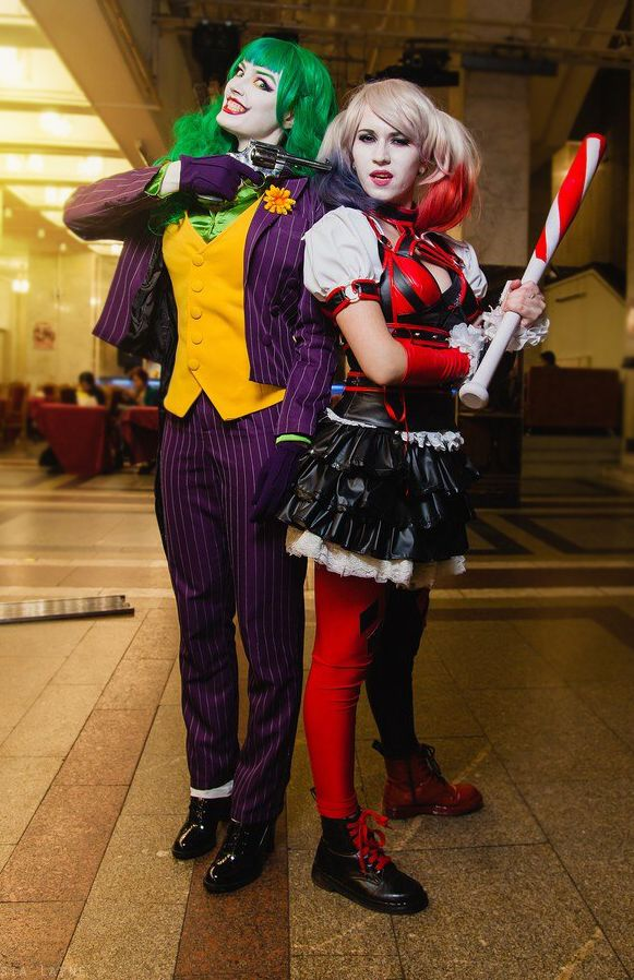 belarus minsk higan 2014 cosplay joker by dark incognito cosplay harley quinn by kota photo by taisia layne fem joker and harley quinn cosplay - The Joker And Harley Quinn Halloween Costumes