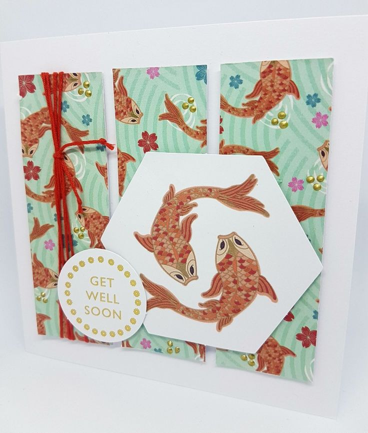 Card made using Craftwork Cards Kimono Collection by Mary Gillingham