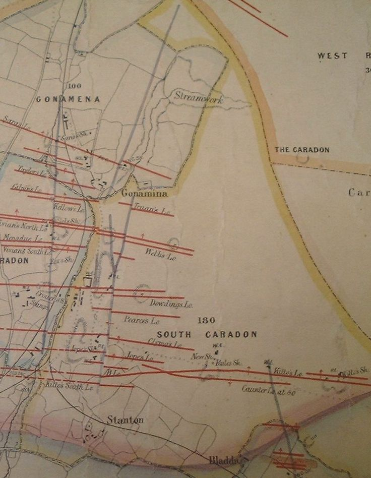 A map of South Caradon Mine in