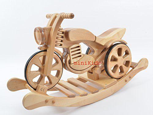 Schaukelmotorrad Schaukelpferd Holzspielzeug SPEED NEU « Terrasunt24