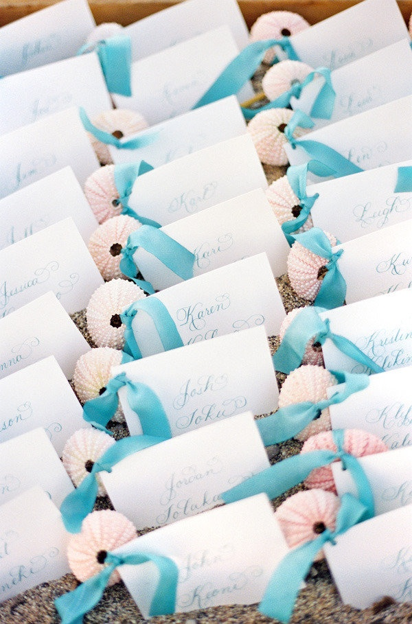 Best Place Card Ideas Images On Pinterest Beach Weddings