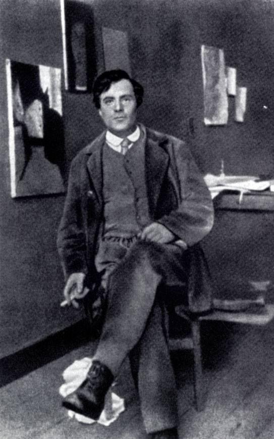 итальянский живописец и скульптор Амедео Модильяни. 1916 г.