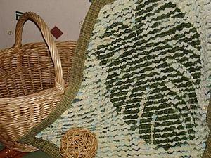 Мастер-класс: коврик с «отпечатком» листа в технике «синель». Часть 1 - Ярмарка Мастеров - ручная работа, handmade