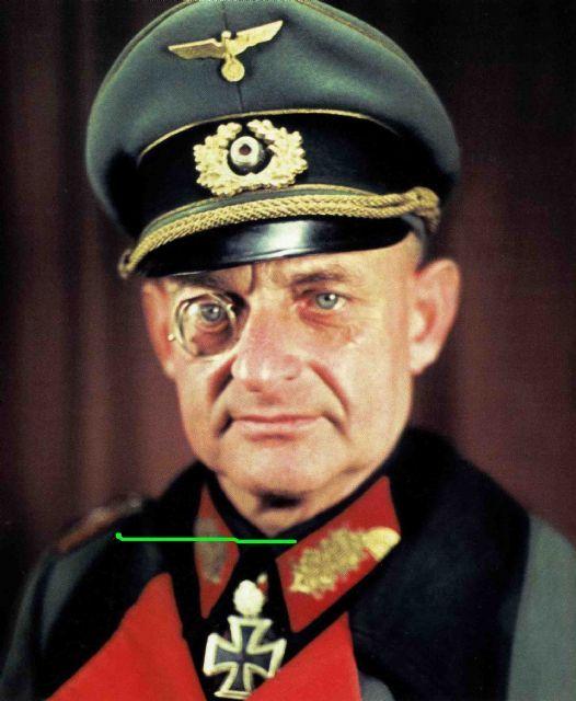 Hermann Recknagel as Generalleutnant after receiving Eichenlaub. Eichenlaubträger, Heer General der Infanterie, Ritterkreuzträger, Schwerternträger