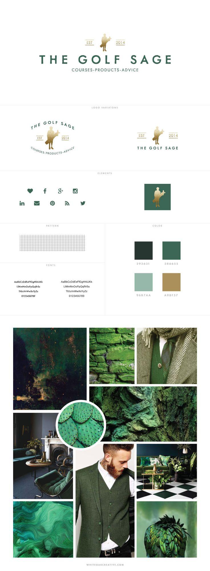 Custom branding and blog design for The Golf Sage - logo design, wordpress theme, mood board inspiration, blog design idea, graphic design, branding