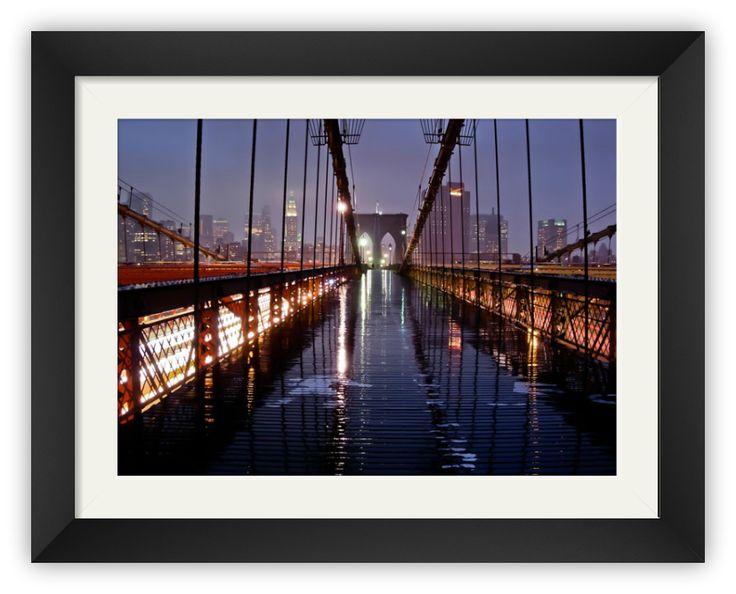 "Tablou ""After the Rain, Brooklyn Bridge"" http://www.artfoyer.ro/after-the-rain-brooklyn-bridge.html"