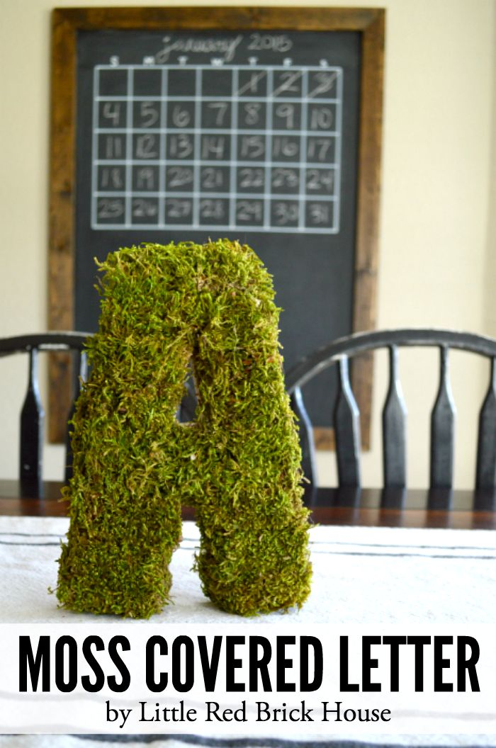 Moss Covered Letter   LITTLE RED BRICK HOUSE