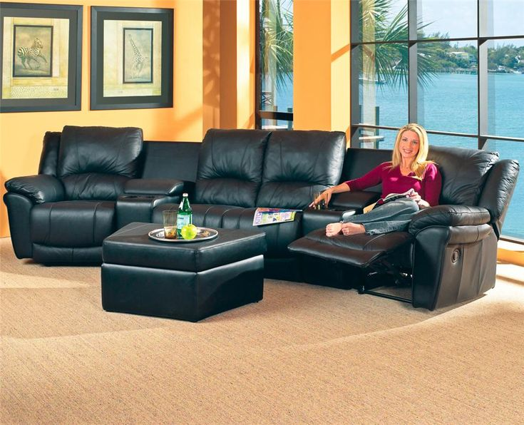 Promenade Casual Leather Reclining Theater Sectional Group by Coaster - Rooms and Rest - Theater Seating & 14 best Sofas images on Pinterest | Reclining sectional Recliners ... islam-shia.org