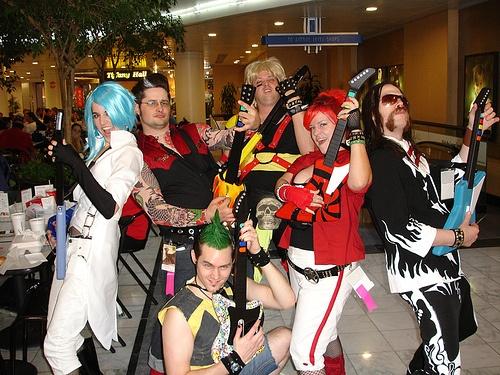 guitar hero group halloween costumesguitarheroes - Heroes Halloween Costumes