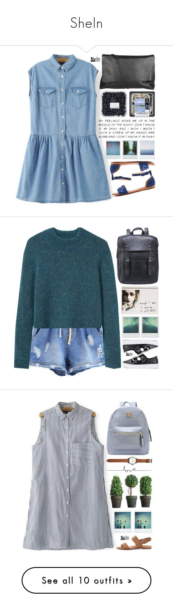 """SheIn"" by scarlett-morwenna ❤ liked on Polyvore featuring Arlington Milne, Polaroid, kitchen, vintage, Acne Studios, Mead, Love Quotes Scarves, Jack Spade, Coqui Coqui and adidas"