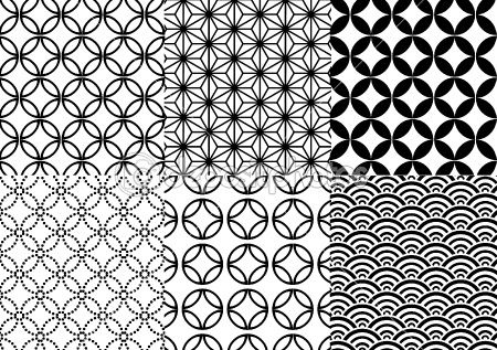 Japanese pattern, vector by beaubelle - Stockvectorbeeld