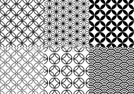 Japanese pattern, vector by beaubelle - Stockvectorbeeld