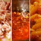 Recipe photo: Dylan's fabulously simple pancetta penne amatriciana