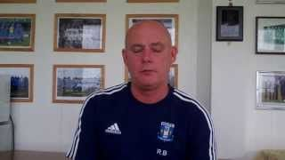 Post Match Interview with Rob Byrne. Winsford United v Cammel Laird 31st August 2015