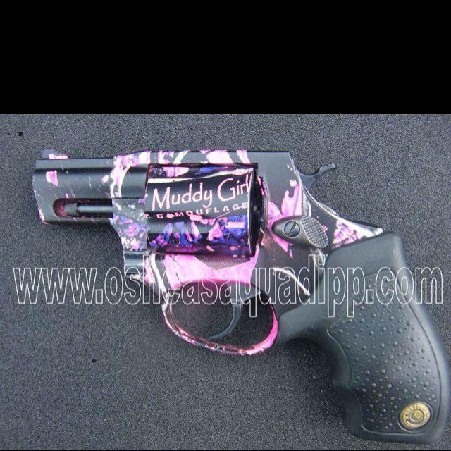 What girl doesn't need a pink camo handgun!! PLEAAAAASSSSSE! I want one!