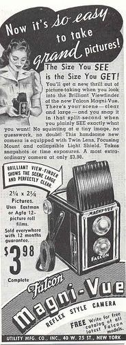 Vintage Camera Ads - I have one of these cameras on my vintage camera shelf in the living room :)
